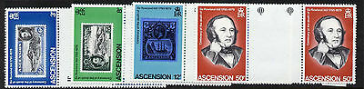 Ascension Island 247-50 Gutter pairs MNH Stamp on Stamp, Rowland Hill