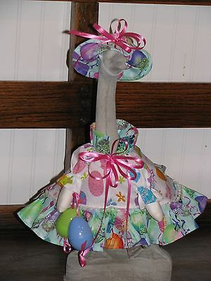 Goose Clothes: Medium Easter Egg Dress Goose Outfit by Silly Goose