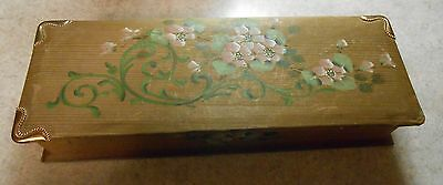 Vintage Dresser Jewelry Trinket Box Floral Flowers