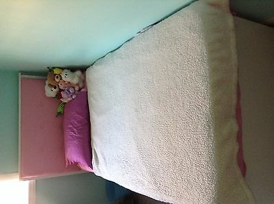 Pink and White Twin Bed