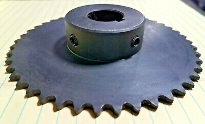 "35B45 Sprocket      #35 Chain  45 Tooth  1"" Bore With Key Way & 2 Set Screws"