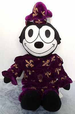 "16"" Felix The Cat as Court Jester Purple Stuffed Plush from 2003"