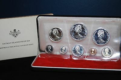 1973 Cayman Islands Proof Set | 4 silver coins | 8 coins total | 2.7731 ASW