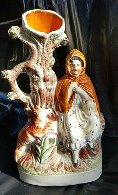 Spill vase Genuine staffordshire pottery. Red Riding Hood.