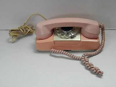 Vintage Princess Pink Rotary Telephone Type 182 Monophone - AS IS - Parts Repair