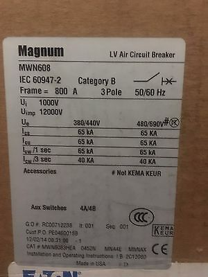 *new* Magnum Lv Air Circuit Breaker #mwn6083Hea