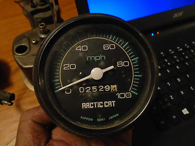 Vintage Speedometer Snowmobile Arctic Cat 70s 80s 90s