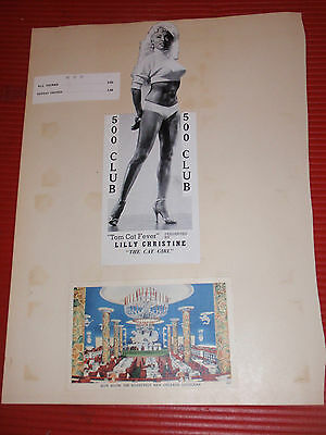 Two Vintage Scrapbook Pages New Orleans/burlesque/capital Airlines