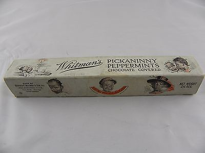 """Vtg. Whitman's peppermint picaninny candy box 7.25"""" by 1.25""""       B"""