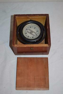 Vintage 1945 Wilcox & Crittenden Nautical Maritime Ship Compass 3.5""