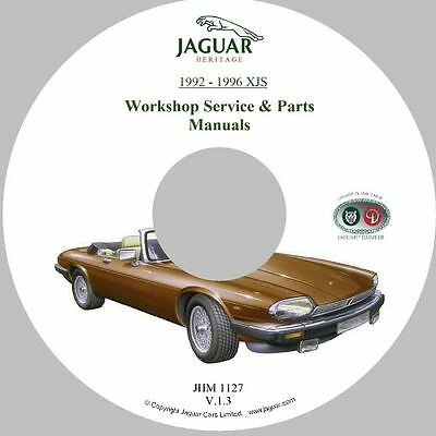 1992 to 1996 Jaguar XJS (All Engines) Parts and Service Manual on CD-ROM (Used)