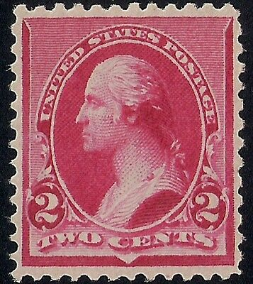 #220 2 cents Washington Carmine Rose (1890) Stamp Mint OG NH EGRADED VF-XF 86