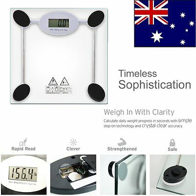 180kg 400lb Glass LCD Electronic Digital Body Weight Bathroom Weighing Scale