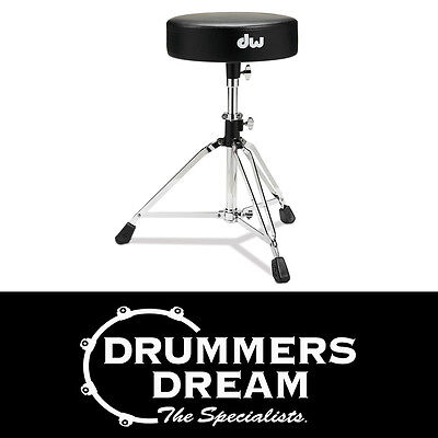 DW 3000 Series Drum Throne Stool Round Top with Vise Memory DWCP3100