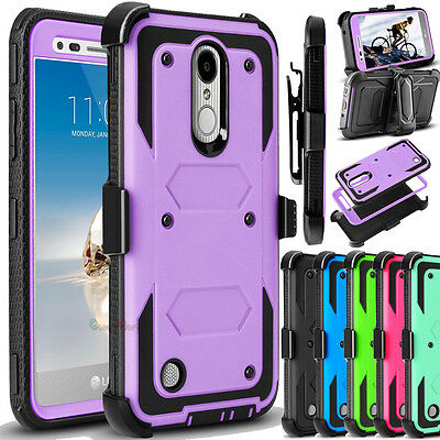 For LG Aristo MS210/ V3 K8 (2017) Hybrid Armor Shockproof Hard Case Phone Cover