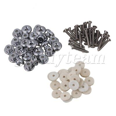 20Pieces Chrome Mushrooms Head Guitar Strap Buttons Strap Pin for Guitar