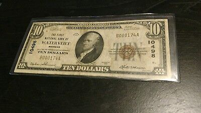 the first national bank of watervliet michigan $10