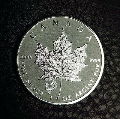 2017 Canada $5 1 oz Reverse Proof Silver Maple Leaf Lunar Rooster Privy