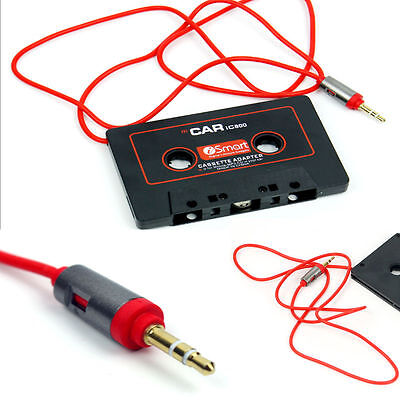 New Car Audio Stereo Cassette Tape Adapter For MP3/4 iPod Phone CD 3.5mm AUX