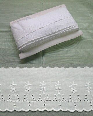 Broderie Anglaise Flat Lace  (2912) - White 5 meters