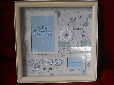 Cudlie! Baby Boy Shadow Box Picture Frame 12 X 12 Holds 4 X 6 & Wallet Picture