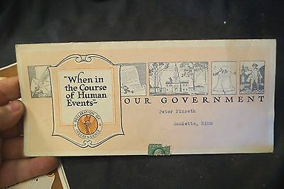 1921 Our Government Declaration of Independence Advertising Brochure
