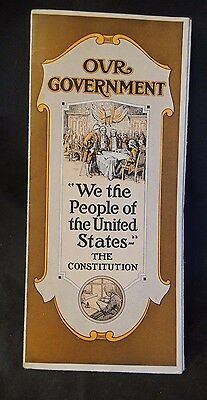 1921 Our Government The Constitution Advertising Brochure