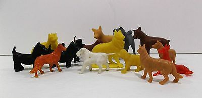 Vintage mini Plastic Play Set Dogs By Marx, MPC, Tim-Mee and others- lot of 16