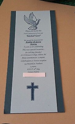 Custom made personlize Boy's confirmation/Communion invitations