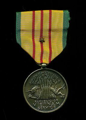 Us Military South Republic Of Vietnam Rvn Service Ribbon Medal With One Star