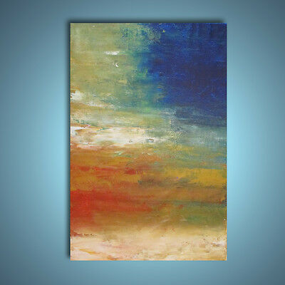 Original large palette knife 36x24 abstract painting wall art  deco by Elsisy