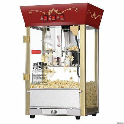 Theater Style Popcorn Machine Home Commercial Pop Corn Maker Vintage Movie Fun