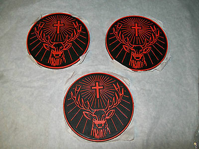 Set Of Three Jagermeister Stag Head Coasters