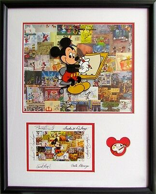 Disney Milestone Mickey 1st Day Release Limited Edition Cel Signed / Pin Framed