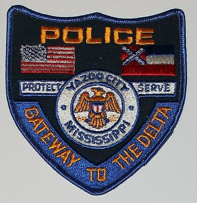 YAZZO CITY POLICE Mississippi Gateway to the Delta MS PD patch