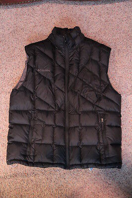 Columbia Black Down Vest Men's Sz. L