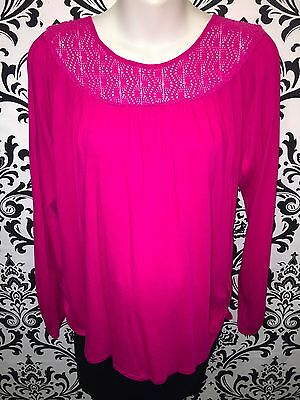 Old Navy Maternity Casual Pink Long Sleeve To  with Knit Neckline Size Medium
