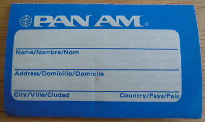 PAN AM AIRLINE Baggage Sicker from 1980s