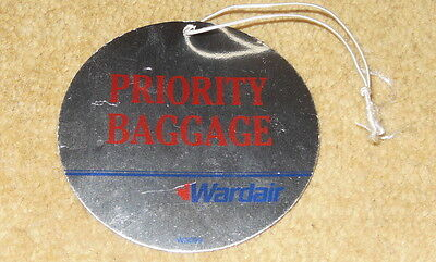 Rare Wardair Priority Baggage Tag from 1980s