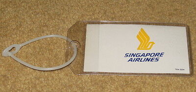 Singapore Airlines Plastic CABIN AIRLINE BAGGAGE TAG ~EXTREMELY RARE~ 1980s