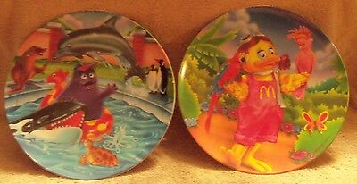 "Set of 2 new different Ronald McDonald 9 1/2"" Plastic Collector Plates"
