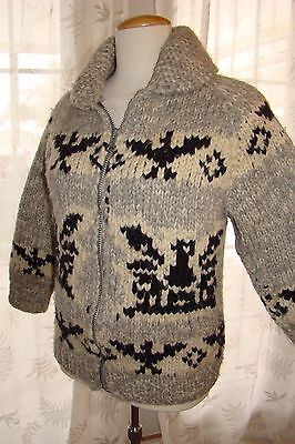 Vintage Cowichan Thick Knit Sweater Ladies S - M!
