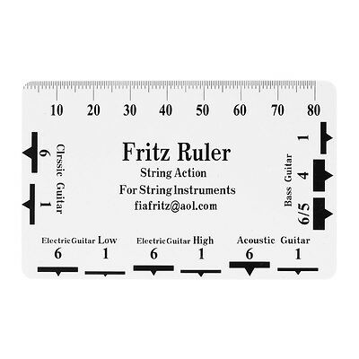 Guitar String Action Gauge Ruler Luthier Tool Pitch Measure Guide Plastic Fritz