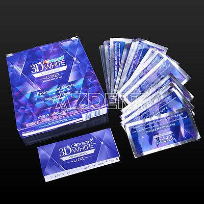 UK SALE Crest White Luxe 3D Whitestrips Whitening 40strips 20 Pouch