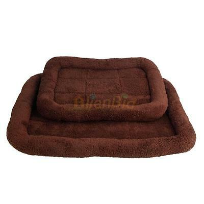 """Pet Pad Mat 18"""" Dog Cat Puppy Warm Crate Cage Kennel Bed House Soft Cozy Coffee"""