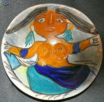 """NEW, OAXACAN CERAMIC BOWL, HAND MADE BY LOCAL ARTIST, SIGNED. 11.5""""x 4"""""""