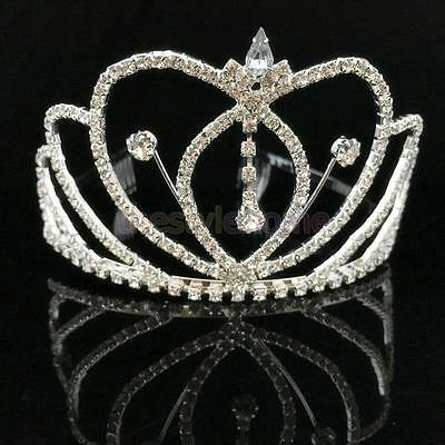 Wedding Prom Bridal Crown Crystal Headwear Tiara Headband Head Decoration