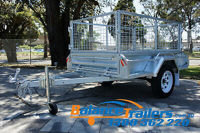 6x4 HOTDIP GALVANISED FULLY WELDED TIPPER BOX TRAILER WITH 600mm REMOVEABLE CAGE