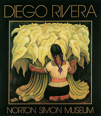 Diego Rivera Girl with Lilies Art Print Poster 33x38