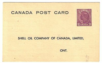 Shell Oil Company of Canada - advertising postcard -unused 3c cents postage